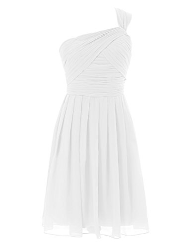Diyouth One Shoulder Short Bridesmaid Dresses Cocktail Party Dresses Backless Ivory Size 20W - Miranda Ivory Prom Dress