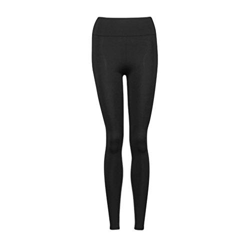 HARRYSTORE pantalones de yoga mujeres Deportes polainas alta de la cintura aptitud elástico pantalones Bk