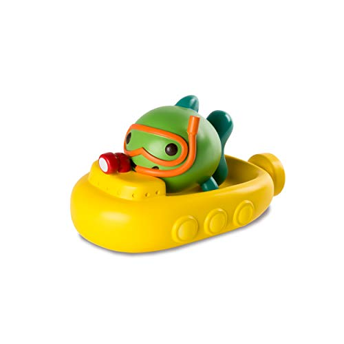 Sago Mini, Fins' Submarine Squirter and Boat Floatie, BPA and Mold Free Easy Clean Bath Toys, for Ages 1 and Up