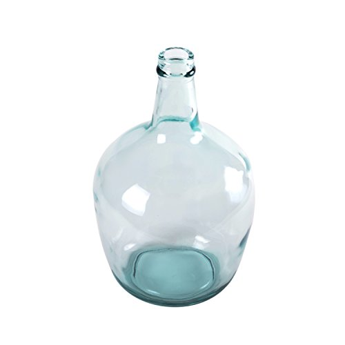 Green Glass Vase - Lerman Decor Recycled Glass Carafe