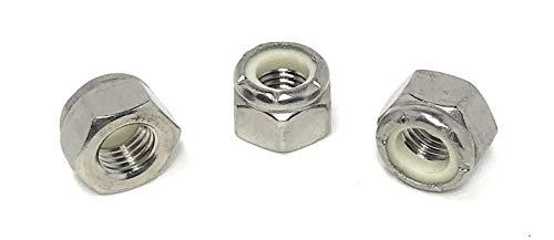 5/16-24 Nylon Insert Lock Nuts (UNF Fine Thread) 18-8 Stainless Steel (25 Pcs)