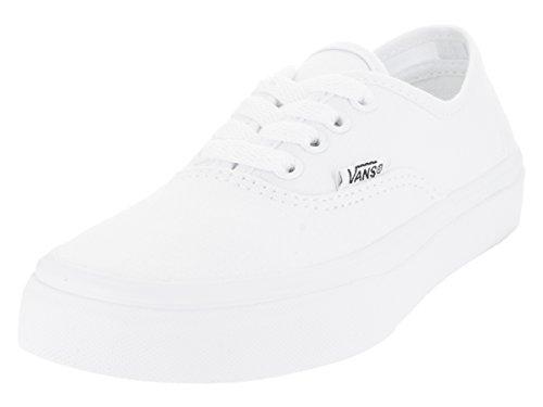 Vans Kids Authentic True White Skate Shoe 12.5 Kids (Vans Authentic Girl)