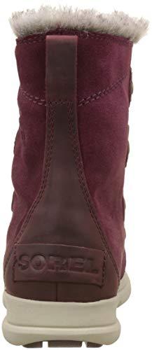 Rich Ancient Joan Women's Boots SOREL Explorer Wine Fossil qf1FBnw