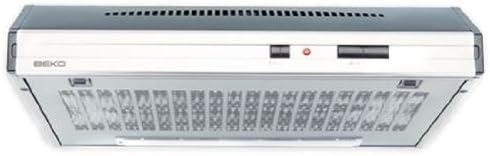 Beko CFB 6432 X - Campana (Canalizado, 300 m³/h, 61 Db, Incorporado, Acero inoxidable, Color blanco, Barra de desplazamiento)