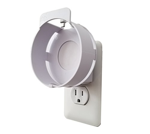 The Deluxe Mount for 2nd Gen by Dot Genie: The Simplest and Cleanest High-End Outlet Wall Mount Hanger Stand for Kitchen and Bathroom Speakers - Designed in USA (Matte White)