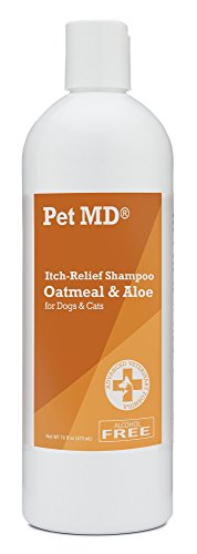Pet MD - Oatmeal Dog Shampoo Cats and Dogs for Itch Relief and Moisturizer for Dry Skin and Coat - 16 Oz by Pet MD