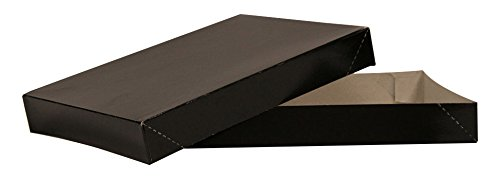 Gloss Apparel Box - Black - 2 Piece 100 Count 11.5x8.5x1.625 inch
