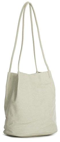 mujer Handbag al de Shop Bolso beige Big piel claro sintética hombro para FqgRR