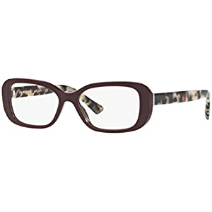 Burberry Women's BE2228 Eyeglasses Bordeaux 51mm