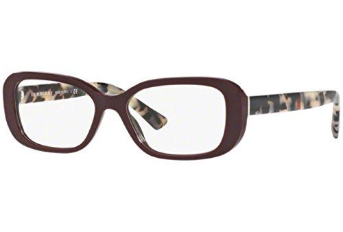 Burberry Women's BE2228 Eyeglasses Bordeaux 51mm