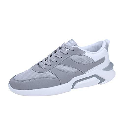 Antidérapant Taille Confortable Mode Pour Basses Baskets Grande Sneakers À De La Adeshop Sport Gris Chaussures Maillée Laçage Hommes Aération qpxT7qO