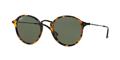 Ray Ban RB2447 1157 49M Spotted Black Havana/Green by Ray-Ban