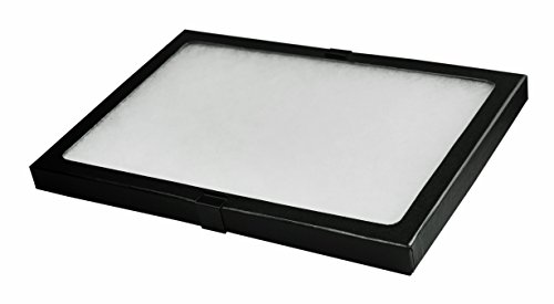 "SE JT928 Glass Top Display Box with Metal Clips, 12"" x 8.25"""