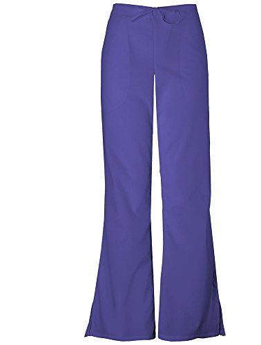 Cherokee Workwear Women's 4101 Flare Leg Drawstring Scrub Pant- Grape- Small