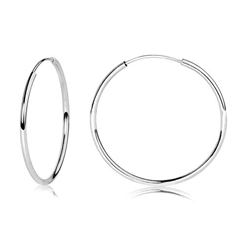 14k WG Endless Hoop Earrings 20mm 42050