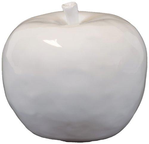 Urban Trend 70515 Decorative Ceramic Apple, Large, White