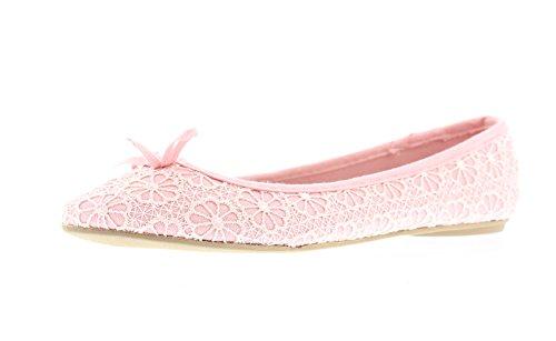 (Gold Toe Lauren Women's Lace Comfort Ballet Flat,Dressy Formal Bridal Wedding Flats,Womans Dress Shoes Bride Blush 8 M US)