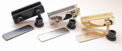 U.S. Futaba Inset Glass Door Hinge Chrome