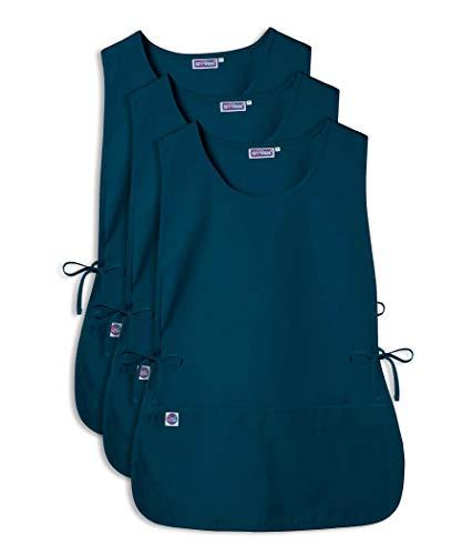 Sivvan Unisex Cobbler Apron - Adjustable Waist Ties, 2 Deep front pockets (3 Pack) - S87003 - Caribbean Blue - ()