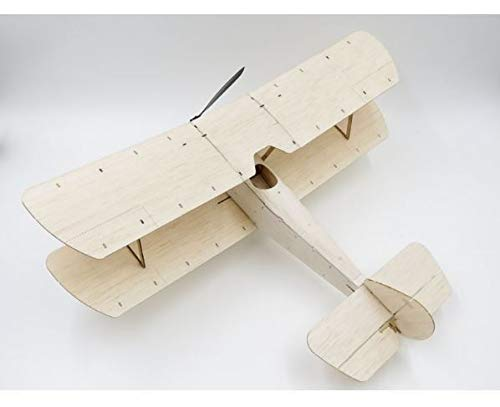 - FidgetGear Sopwith Pup Balsa Wood 378mm Wingspan Biplane Warbird Aircraft RC Plane Kit