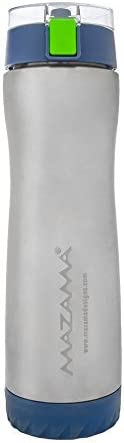 Mazama Double Wall Vacuum Insulated Stainless Steel Sports Water Bottle 20oz - Hydro - Liquid Flask Filter Compatible/Dishwasher Safe with Flip-Top - BPA Free - Fits Standard-Sized Cupholders