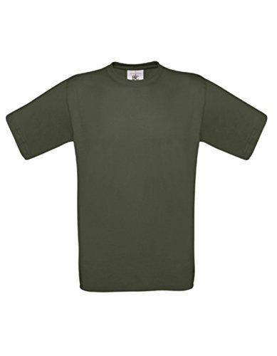 T-Shirt Exact 190 Basics Rundhals Shirt viele Farben B&C S-XXL M,Khaki