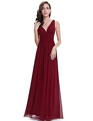 Ever Pretty Sleeveless V-Neck Semi-Formal Maxi Dress 09016