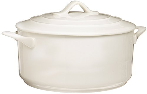Basics Oven Chef Round Casserole, 119-Ounce, White ()