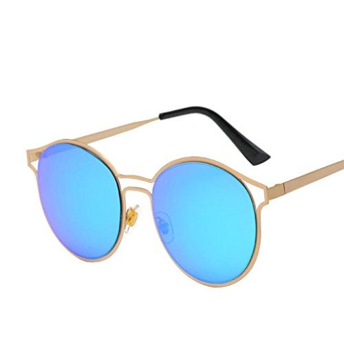 Mujeres aviador gafas moda B Vintage lente de Retro Winwintom Colour Hombres sol de gafas espejo viajes unisex dXqTB0