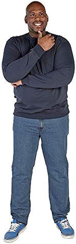 Rockford ks1616 Sweatshirt Uni antracytowy okrągłe wycięcie pod szyją w dużych rozmiarach: Odzież