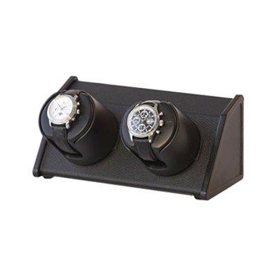 Orbita Sparta 2 Automatic Dual Watch Winder - Black Leather W05570