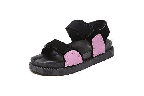 Vêtements Velcro Orteil à Pink d'été Décontracté Plage épais Ouverte Chaussures Sauvage Fond Sandales dSq4Txdzw