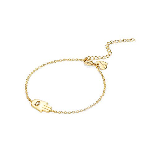 Citled Women Bracelet, Hammered 14K Gold Fill Dainty Round Bar Heart Charm Gold Bracelet