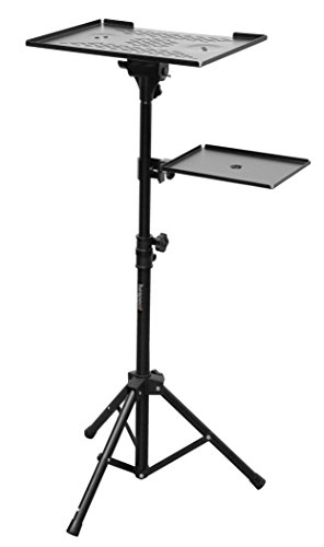 Bespeco LPS100 Professional Laptop Or Projector Stand With Side Shelf by Bespeco