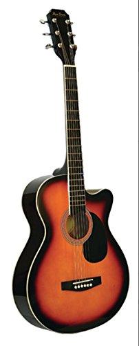 Main Street Guitars MAS38SB 38-Inch Acoustic Cutaway Guitar in Sunburst Finish by Main Street Guitars