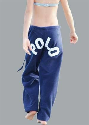 POLO Navy Polar Fleece Pants Youth Medium