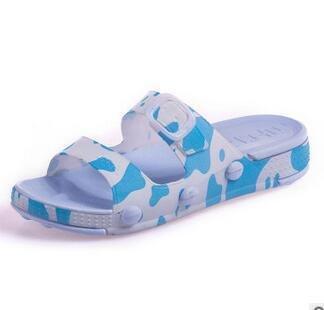 LDMB EVA Sandalen Hausschuhen an dicken Boden erhöhen Damen Hausschuhe summer2 Paare , blue , 38