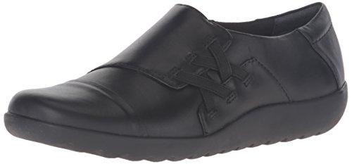 Black Women's Loafer Slip Sandy Clarks Medora Leather on nY6dpnqx