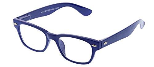 Peepers Women's Clark - Blue 2488125 Square Reading Glasses, Blue, ()