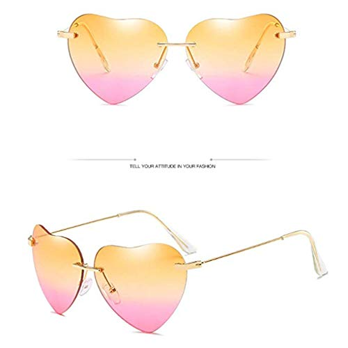 UMFun Love Ocean Piece Sunglasses Street Beat Peach Heart Shaped Sunglasses (E) ()