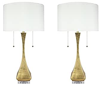 Urbanest Set of 2 Messina Table Lamps, Antique Gold, 28-inch Tall