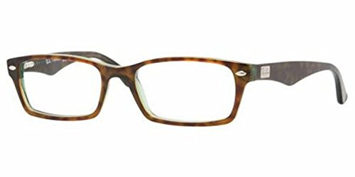 Ray-Ban RX 5206 Eyeglasses Havana / Green 52mm & Cleaning Kit - Ray Frame Ban 5206