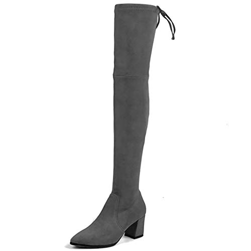 5fcafb880e Amazon.com | MAVIRS Knee High Boots Women's Pointed Toe Boot Thigh High  Over The Knee Booties Low Heel Tall Boots | Mid-Calf