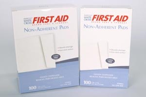 American White Cross 7565033 Sterile Non Adherent Pad, 2'' x 3'', 1/Pack, 100 Pack/Box, 12 Box/Case (Pack of 1200)
