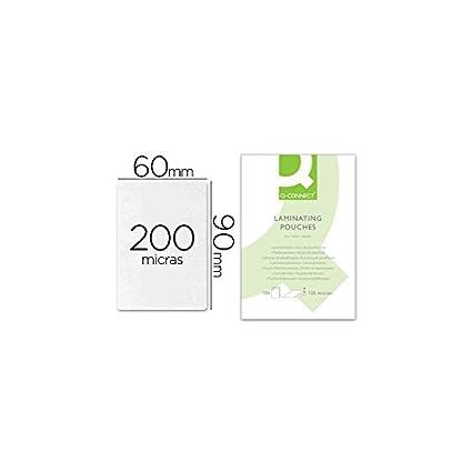 Q-Connect Bolsa De Plastificar 90 X 60 Mm 200 Mc Carnet De Nif Caja De 100 Unidades
