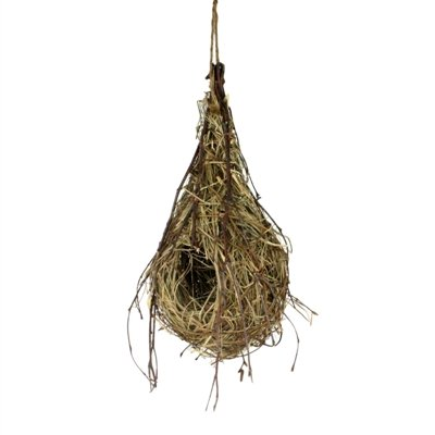 Natural Hanging Oriole Birds Nest, Straw by HomArt