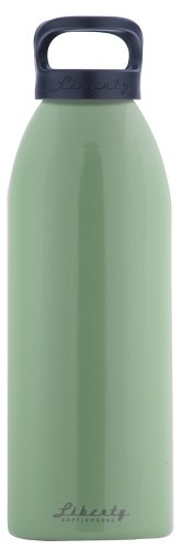 Liberty Bottleworks Straight Up Aluminum Water Bottle, 32oz, Edamame, Standard Cap