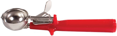 Winco Ice Cream Disher with Red Handle, Size 24