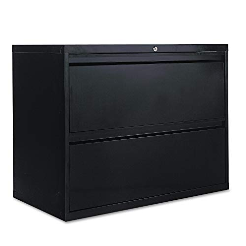 (Alera 2-Drawer Lateral File Cabinet, 36 by 19-1/4 by 29-Inch, Black)