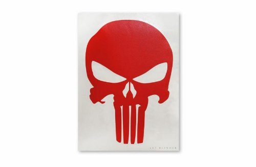 LARGE Rub-On DECAL Long Lasting STICKER The PUNISHER Logo 8 x 11 RED Officially Licensed Movie /& TV Artwork